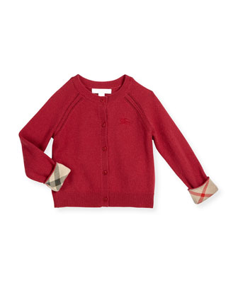 Gema Cashmere Button-Front Cardigan, Size 4-14