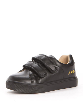 Axel Leather Low-Top Sneaker, Black, Toddler/Youth
