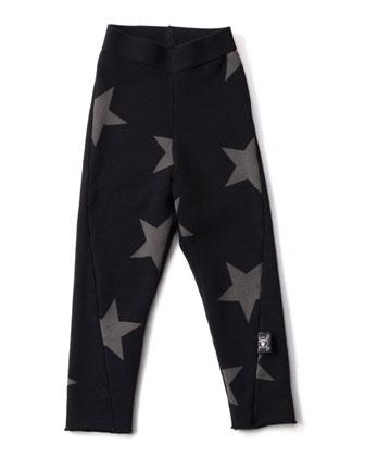 Star-Print Leggings, Black, Size 18M-5