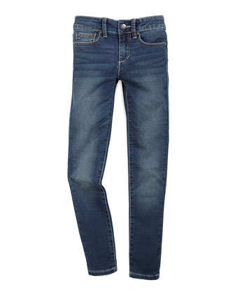 Beatrix Faded Skinny Jeans, Ever Blue, Size 7-14