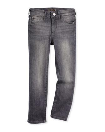 Brady Slim-Fit Faded Jeans, Beam, Size 2-7