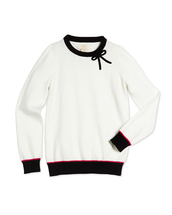 colorblock pullover sweater, white, size s-xl