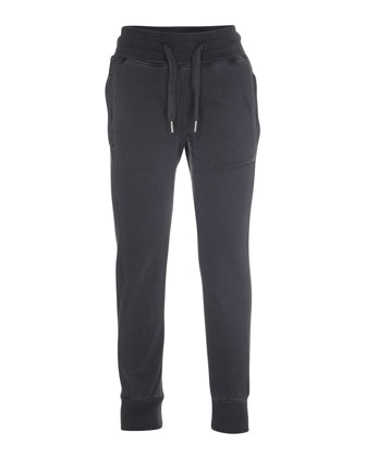 Ashtonish Drawstring Track Pants, Gray, Size 4-12