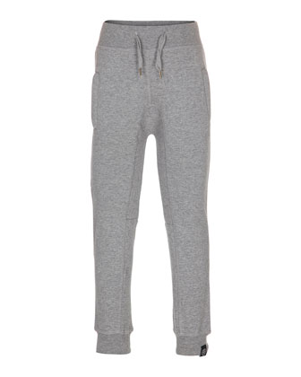 Albie Knit Slim-Fit Track Pants, Gray, Size 4-14