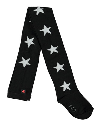 Graphic Star Tights, Black, Size 3-12