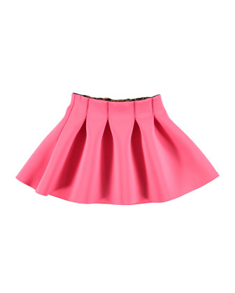 Bente Pleated Ponte Skirt, Pink, Size 5-14