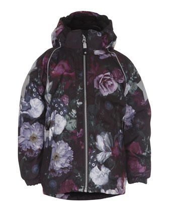 Cathy Hooded Floral Jacket, Multicolor, Size 4-12