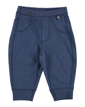 Scott Knit Cotton-Blend Pants, Fjord, Size 12M-2