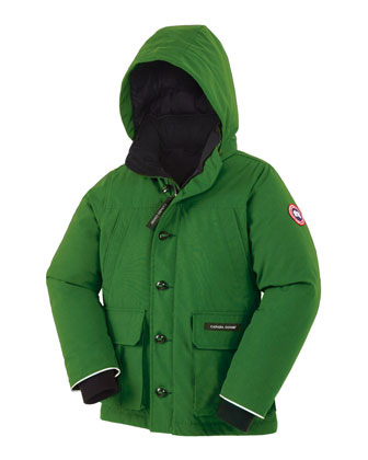 Boys' Vernon Hooded Down Parka, Jade Green, Size XS(6-7)-XL(12-14)