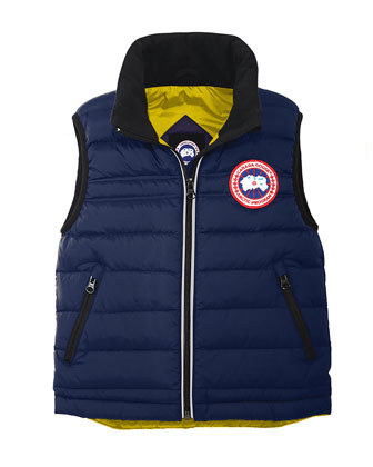 Bobcat Down Puffer Vest, Pacific Blue, Size 2-7