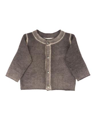 Cashmere Tie-Dye Sweater, Marl Gray, Size 2