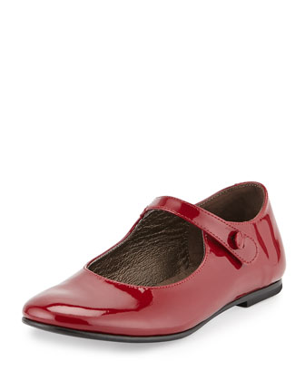 Patent Leather Mary Jane, Burgundy, Toddler