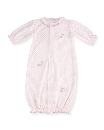 Lilac Blooms Pima Sleep Gown, Pink, Size Newborn-Small