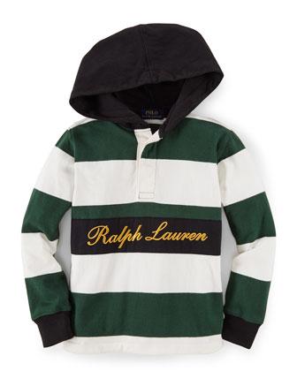 Striped Hooded Lightweight Sweatshirt, Size 2-7
