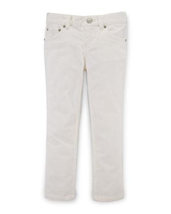 Skinny Corduroy Pants, Oyster Bay Cream, Size 2-6X