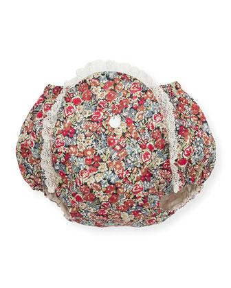 Knit Fur-Trim Cardigan, Alba Lace-Trim Blouse, Lace-Trim Floral Bloomers, ...