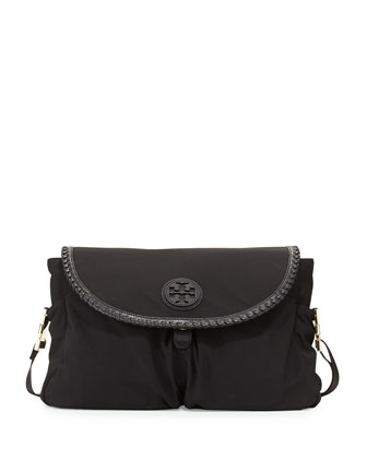 Marion Nylon Messenger Baby Bag, Black