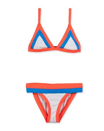 Amalfi Colorblock Two-Piece Swimsuit, Multicolor, Size 8-14
