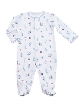 Good Sport Pima Footie Pajamas, Blue, Size Newborn-9 Months