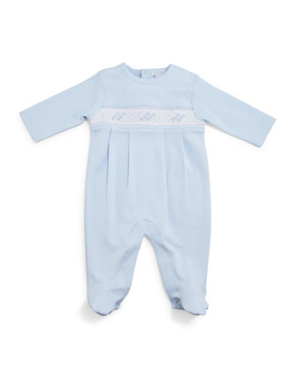 CLB Summer Pima Footie Pajamas, Baby Hat & Blanket, Light Blue