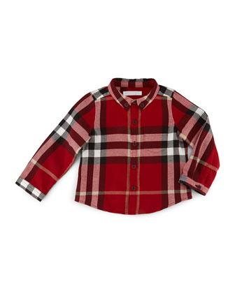 Fred Mini Long-Sleeve Check Shirt, Size 6M-3