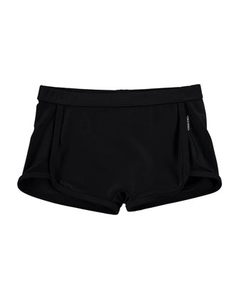 Dolphin Swim Shorts, Black, Size 5-12