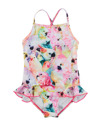 Noona One-Piece Cockatoo Swimsuit, Multicolor, Size 9M-10