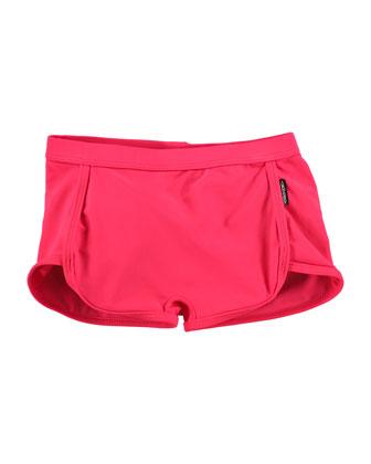 Dolphin Swim Shorts, Diva Pink, Size 18M-12