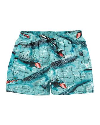 Niko Alligator Board Shorts, Multicolor, Size 2-6