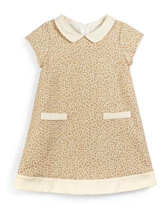 Jacquard A-Line Dress, Gold, Size 3-10