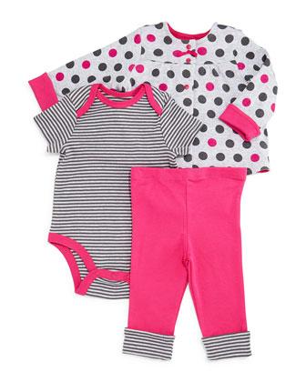 Pima Reversible Jacket, Playsuit & Pants, Pink, Size 3-24 Months