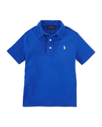 Short-Sleeve Pima Polo Shirt, Size 2-7