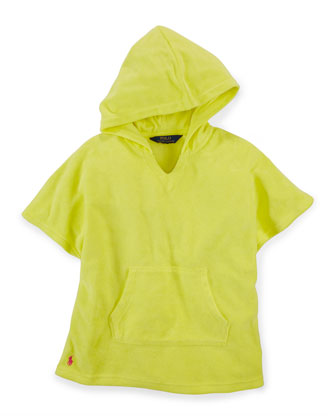 Hooded Terry Coverup, Yellow, Size 2-6X
