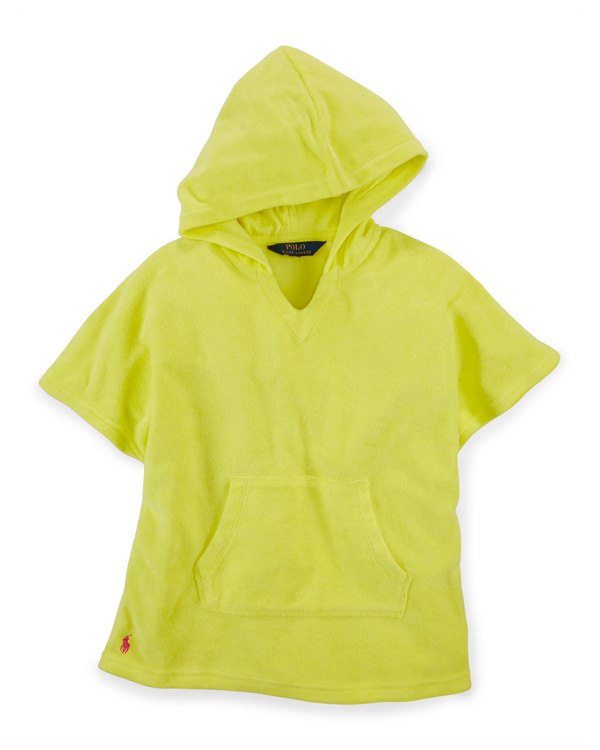 Hooded Terry Coverup, Yellow, Size 2-6X, Girl's, Size: 6 - Ralph Lauren Childrenswear
