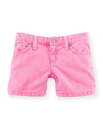 Denim Weekend Shorts, Pink, Size 2-6X