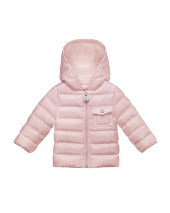 Milou Hooded Puffer Coat, Pastel Pink, Size 12M-3