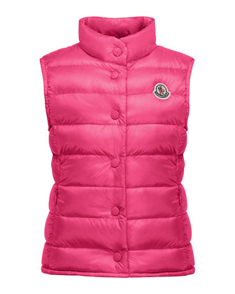 Liane Down Lightweight Down Puffer Vest, Size 8-14