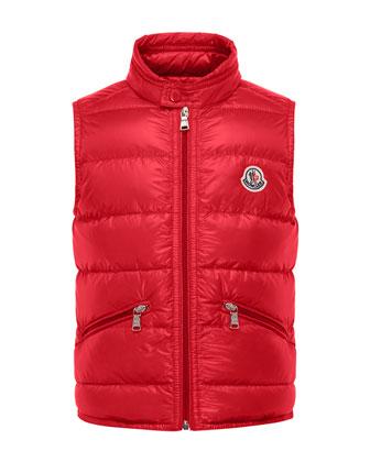 Gui Lightweight Down Puffer Vest, Size 4-6