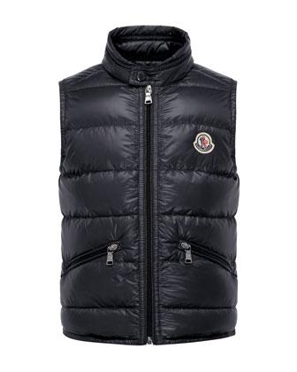 Gui Down Puffer Vest, Navy, Size 8-14