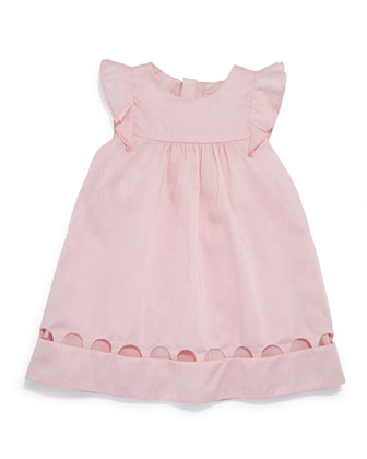 Sleeveless Percale Shift Dress, Light Pink, Size 12-18 Months