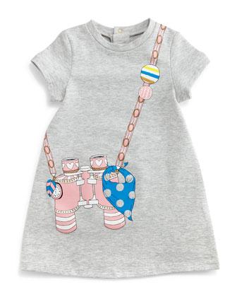 Binocular Trompe l'Oeil Dress, Gray, Size 12-*18 Months