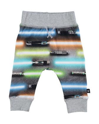 Sammy Light Swords Track Pants, Size 12-24 Months