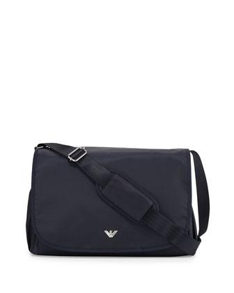 Nylon Diaper Bag, Indigo