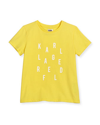 Cotton Jersey Logo Tee, Lemon, Size 6-10