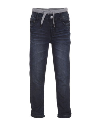 Augustus Drawstring Jeans, Indigo Shadow, Size 4-6