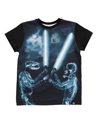 Rexo X-Ray Fantasy Jersey Tee, Black, Size 4-12