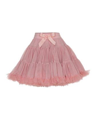 Tulle A-Line Tutu Skirt, Salmon, Size S-M