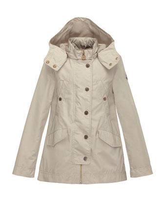 Armance Hooded Jacket, Tan, Size 8-14