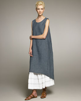 eskandar Delave Linen Dress & Petticoat Skirt