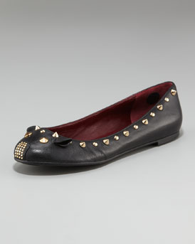 Marc By Marc Jacobs Studded-Mouse Ballerina Flat